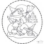 Navidad - Tarjeta navideña bordada 11