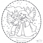 Navidad - Tarjeta navideña bordada 12