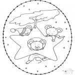 Navidad - Tarjeta navideña bordada 15