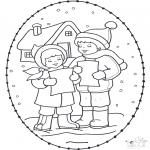 Navidad - Tarjeta navideña bordada 16