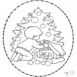 Navidad - Tarjeta navideña bordada 20