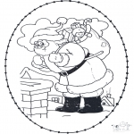 Navidad - Tarjeta navideña bordada 21