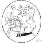 Navidad - Tarjeta navideña bordada 22