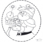 Tarjeta navideña bordada 22