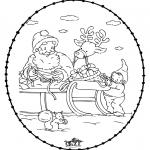 Navidad - Tarjeta navideña bordada 24