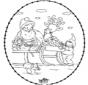 Tarjeta navideña bordada 24