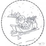 Navidad - Tarjeta navideña bordada 3
