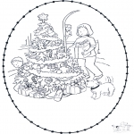 Navidad - Tarjeta navideña bordada 5