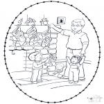 Navidad - Tarjeta navideña bordada 8