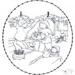 Navidad - Tarjeta navideña bordada 9