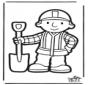 Tarjeta para perforar de Bob el Constructor 2