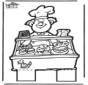 Tarjeta para perforar de pastelero