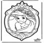 Tarjeta para perforar de Princesa Disney 1