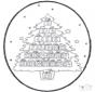 Tarjeta perforada: calendario navideño