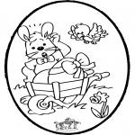 Temas - Tarjeta Perforada - Conejo de Pascua 1