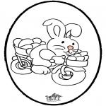 Temas - Tarjeta Perforada - Conejo de Pascua 2