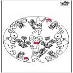 Temas - Tarjeta Perforada - Conejo de Pascua 3