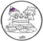 Tarjeta perforada - Cumpleaños