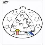 Navidad - Tarjeta perforada de árbol de Navidad 1