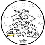Navidad - Tarjeta perforada de árbol de Navidad 3