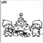 Tarjeta perforada de árbol de Navidad 4