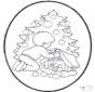 Tarjeta perforada de árbol navideño
