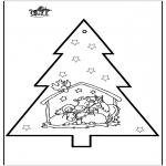 Navidad - Tarjeta perforada de Belén 2