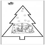 Navidad - Tarjeta perforada de Belén 3