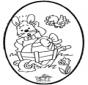 Tarjeta Perforada de Conejo de Pascua