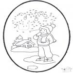 Invierno - Tarjeta perforada de invierno 1