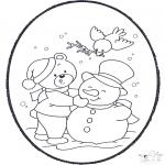 Invierno - Tarjeta perforada de invierno 2