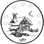 Invierno - Tarjeta perforada de invierno 5
