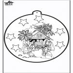 Navidad - Tarjeta perforada de José y María
