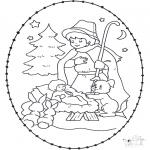 Navidad - Tarjeta perforada de nacimiento