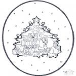 Navidad - Tarjeta perforada de Navidad 1