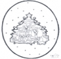 Tarjeta perforada de Navidad 1