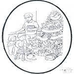 Navidad - Tarjeta perforada de Navidad 10
