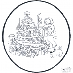 Navidad - Tarjeta perforada de Navidad 11
