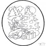 Navidad - Tarjeta perforada de Navidad 12