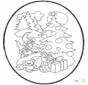 Tarjeta perforada de Navidad 12