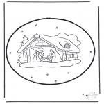 Navidad - Tarjeta perforada de Navidad 15