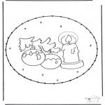 Navidad - Tarjeta perforada de Navidad 16
