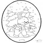 Navidad - Tarjeta perforada de Navidad 18