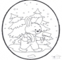 Tarjeta perforada de Navidad 18