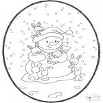 Navidad - Tarjeta perforada de Navidad 2