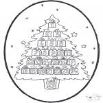 Navidad - Tarjeta perforada de Navidad 20