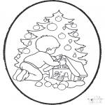Navidad - Tarjeta perforada de Navidad 22
