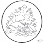 Tarjeta perforada de Navidad 22