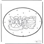 Navidad - Tarjeta perforada de Navidad 23