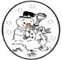 Tarjeta perforada de Navidad 25